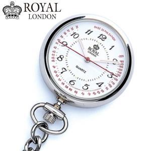ロイヤルロンドン ROYAL LONDON  ナースウォッチ 懐中時計 ポケットウォッチ/クォーツ シルバー 21019-01|bellmart
