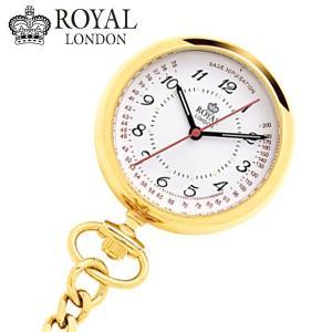 ロイヤルロンドン ROYAL LONDON  ナースウォッチ 懐中時計 ポケットウォッチ/クォーツ イエローゴールド 21019-02|bellmart