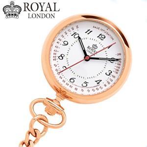 ロイヤルロンドン ROYAL LONDON  ナースウォッチ 懐中時計 ポケットウォッチ/クォーツ ローズゴールド 21019-03|bellmart