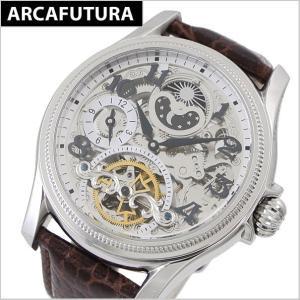アルカフトゥーラ  ARCA FUTURA 腕時計 機械式自動巻き メンズ・牛革ベルト(ブラウン) 23145NNSKBR|bellmart