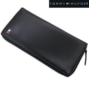 TOMMY HILFIGER(トミー ヒルフィガー)ラウンドファスナー長札財布・小銭入れ付(ブラック)31TL13X009-001-001|bellmart