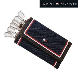 TOMMY HILFIGER トミー ヒルフィガー 6連キーケース デニム(ネイビー)/牛革 31TL170004-200|bellmart