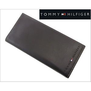 TOMMY HILFIGER(トミー ヒルフィガー)二つ折り長札財布・小銭入れ付(こげ茶)31TL19X006-200|bellmart