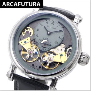 アルカフトゥーラ  ARCA FUTURA 腕時計 機械式自動巻きメンズ・牛革ベルト(ブラック) 324SKBK|bellmart