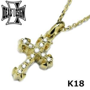 ディールデザイン DEAL DESIGN インセクトクロス ペンダント ゴールド:K18 18金 ダイヤモンド 393108K18|bellmart
