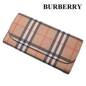 バーバリー BURBERRY 長財布 ヴィンテージ チェック キャンバス ウォレット 小銭入れ付き BLACK 4071410|bellmart