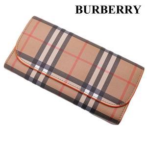 バーバリー BURBERRY 長財布 ヴィンテージ チェック キャンバス ウォレット 小銭入れ付き 4073427|bellmart