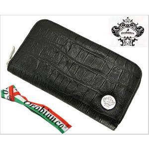 オロビアンコ (OROBIANCO・INTRA LAP)ラウンドファスナー長財布(クロコ調型押し牛革・ブラック/つや無し)7025576|bellmart