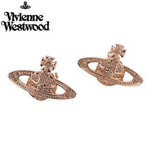 ヴィヴィアンウエストウッド Vivienne Westwood ミニバスレリーフ ピアス 両耳用(2個セット)ローズゴールド レディース MINI BAS RELIEF PIERCE 724535B/3|bellmart
