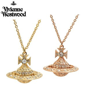 ヴィヴィアンウエストウッド Vivienne Westwood  ミニーオーブ ペアペンダント(2本セット) イエローゴールド & ローズゴールド 752327B/2 752327B/3|bellmart