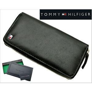 TOMMY HILFIGER(トミー ヒルフィガー)ラウンドファスナー長札財布・小銭入れ付(ブラック)31TL13X015-001|bellmart