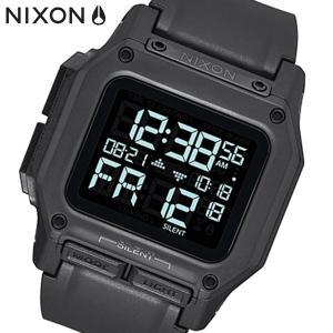 NIXON ニクソン 腕時計 Regulus レグルス デジタル オールブラック ポリウレタン メンズ A1180001|bellmart