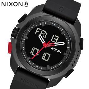NIXON ニクソン 腕時計 Ripley 高度計・温度表示 デジタル x アナログ アナデジ ブラック ポリウレタン メンズ A1267008|bellmart