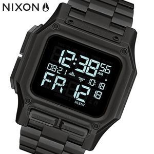 NIXON ニクソン 腕時計 Regulus SS レグルスSS デジタル ステンレス オールブラック メンズ A1268001|bellmart