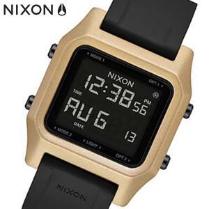 NIXON ニクソン 腕時計 Staple ステープル デジタル ブラック/ゴールド A1309010|bellmart