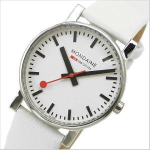 モンディーン MONDAINE 腕時計 メンズ EVO エヴォ/ホワイトベルト A658.30300.11SBN|bellmart