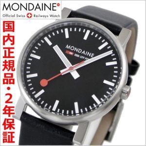 モンディーン MONDAINE 腕時計 メンズ EVO エヴォ ブラック文字盤 A658.30300.14SBB-N|bellmart