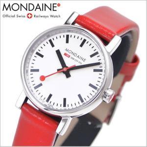 モンディーン MONDAINE 腕時計 レディース EVO エヴォ/レッドベルト A658.30301.11SBC|bellmart