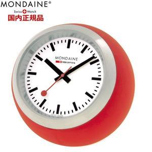 モンディーン MONDAINE 置時計 スイス国鉄 オフィシャル鉄道ウォッチ デスククロック グローブ レッドA660.30335.16SBC|bellmart