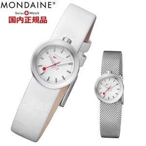 モンディーン MONDAINE 腕時計 レディース アウラ 牛革ベルト(メッシュベルト付属)  A666.30324.16SBA.A|bellmart