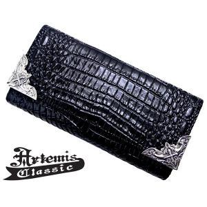 アルテミスクラシック Artemis Classic イーグルコーナーロングウォレット 長財布 クロコスタイルミッドナイトパープル ACW0001|bellmart
