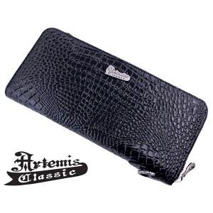アルテミスクラシック Artemis Classic ラウンドジップウォレット 長財布 クロコスタイルミッドナイトパープル ACW0004|bellmart