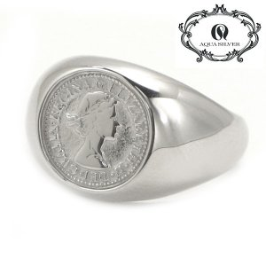 アクアシルバー AQUA SILVER リング 指輪 シルバー925製 メンズ/レディース ASR-177RC-1【幸せのコイン】|bellmart