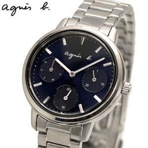 アニエスベー agnes b. 腕時計 32mm レディース マルチカレンダー ネイビー文字盤 BP6018X1|bellmart