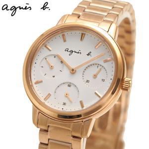 アニエスベー agnes b. 腕時計 32mm レディース マルチカレンダー ローズゴールド BP6022X1|bellmart