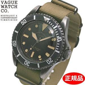 クリーナープレゼント VAGUE WATCH Co. ヴァーグ ウォッチ カンパニー 腕時計 ブラック サブ 40mm メンズ NATOベルト BS-L-001|bellmart