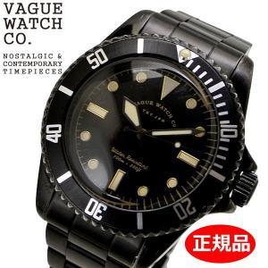クリーナープレゼント VAGUE WATCH Co. ヴァーグ ウォッチ カンパニー 腕時計 ブラック サブ 40mm メンズ ステンレスベルト VAGUE WATCH BS-L-001-SB|bellmart