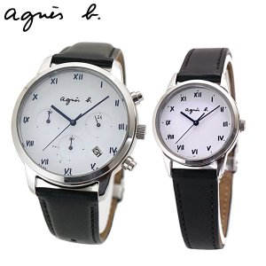 アニエスベー agnes b. ペアウォッチ(2本セット)腕時計 ソーラー クロノグラフ メンズ マルチェロ BZ5001P1 BU9030P1 (FBRD942 FBSD942)|bellmart