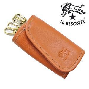 イルビゾンテ IL BISONTE キーケース 4連キーホルダー キャメル メンズ レディース C0251P-145|bellmart