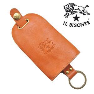 イルビゾンテ IL BISONTE キーケース キーホルダー キーリング キャメル メンズ レディース C0330P-145|bellmart