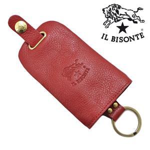 イルビゾンテ IL BISONTE キーケース キーホルダー キーリング ROSSO レッド メンズ レディース C0330P-245|bellmart
