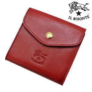 イルビゾンテ IL BISONTE 二つ折り財布 ショートウォレット ROSSO レッド メンズ レディース C0424P-245|bellmart