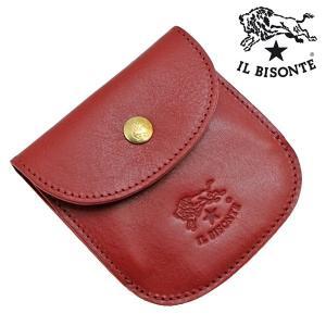 イルビゾンテ IL BISONTE コインケース 小銭入れ ROSSO レッド メンズ レディース C0431P-245|bellmart