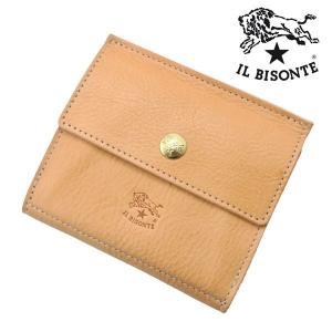 イルビゾンテ IL BISONTE 二つ折り財布 ショートウォレット ヌメ/ナチュラル メンズ レディース C0910P-120|bellmart