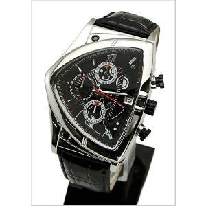 COGU(コグ)三角形クロノグラフ腕時計(ブラック文字盤・革ベルト・男性用) 53%OFF C43-BK|bellmart