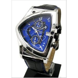 COGU(コグ)三角形クロノグラフ腕時計(ブルー文字盤・革ベルト・男性用) 53%OFF C43-BL|bellmart
