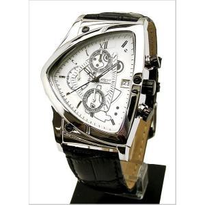 COGU(コグ)三角形クロノグラフ腕時計(ホワイト文字盤・革ベルト・男性用) 53%OFF C43-WH|bellmart