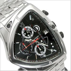 COGU(コグ)三角形クロノグラフ腕時計(ブラック文字盤・ステンレスベルト・男性用) 61%OFF C43M-BK|bellmart