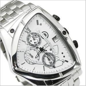 COGU(コグ)三角形クロノグラフ腕時計(ホワイト文字盤・ステンレスベルト・男性用) 61%OFF C43M-WH|bellmart
