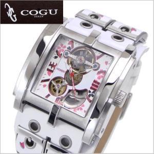 COGU(コグ)SAKURA(桜)機械式腕時計・自動巻き/革ベルト・ホワイト C63SKR-WPK|bellmart