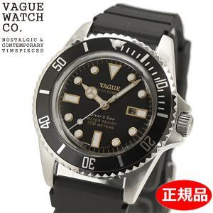 クリーナープレゼント VAGUE WATCH Co. ヴァーグ ウォッチ カンパニー 腕時計 ダイバーズサン 36mm ウレタンベルト ブラック文字盤  WATCHDIVER'S SON DS-L-001|bellmart