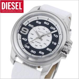 ディーゼル DIESEL クロノグラフ腕時計 スプロケット SPROCKET /ホワイトレザー・ユニセックス DZ1741|bellmart