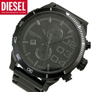 ディーゼル DIESEL クロノグラフ腕時計  Double Down メンズ/ブラック  DZ4326|bellmart