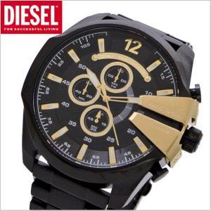ディーゼル DIESEL クロノグラフ腕時計  DZ4338 メガチーフ MEGA CHIEF メンズ/ブラックIP x ゴールド|bellmart