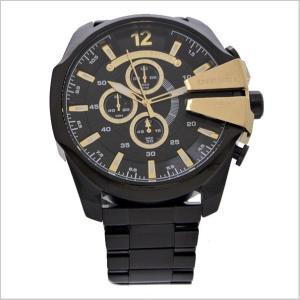 ディーゼル DIESEL クロノグラフ腕時計  DZ4338 メガチーフ MEGA CHIEF メンズ/ブラックIP x ゴールド|bellmart|02