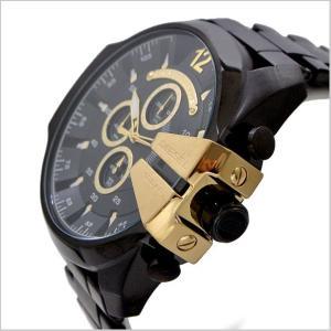ディーゼル DIESEL クロノグラフ腕時計  DZ4338 メガチーフ MEGA CHIEF メンズ/ブラックIP x ゴールド|bellmart|03